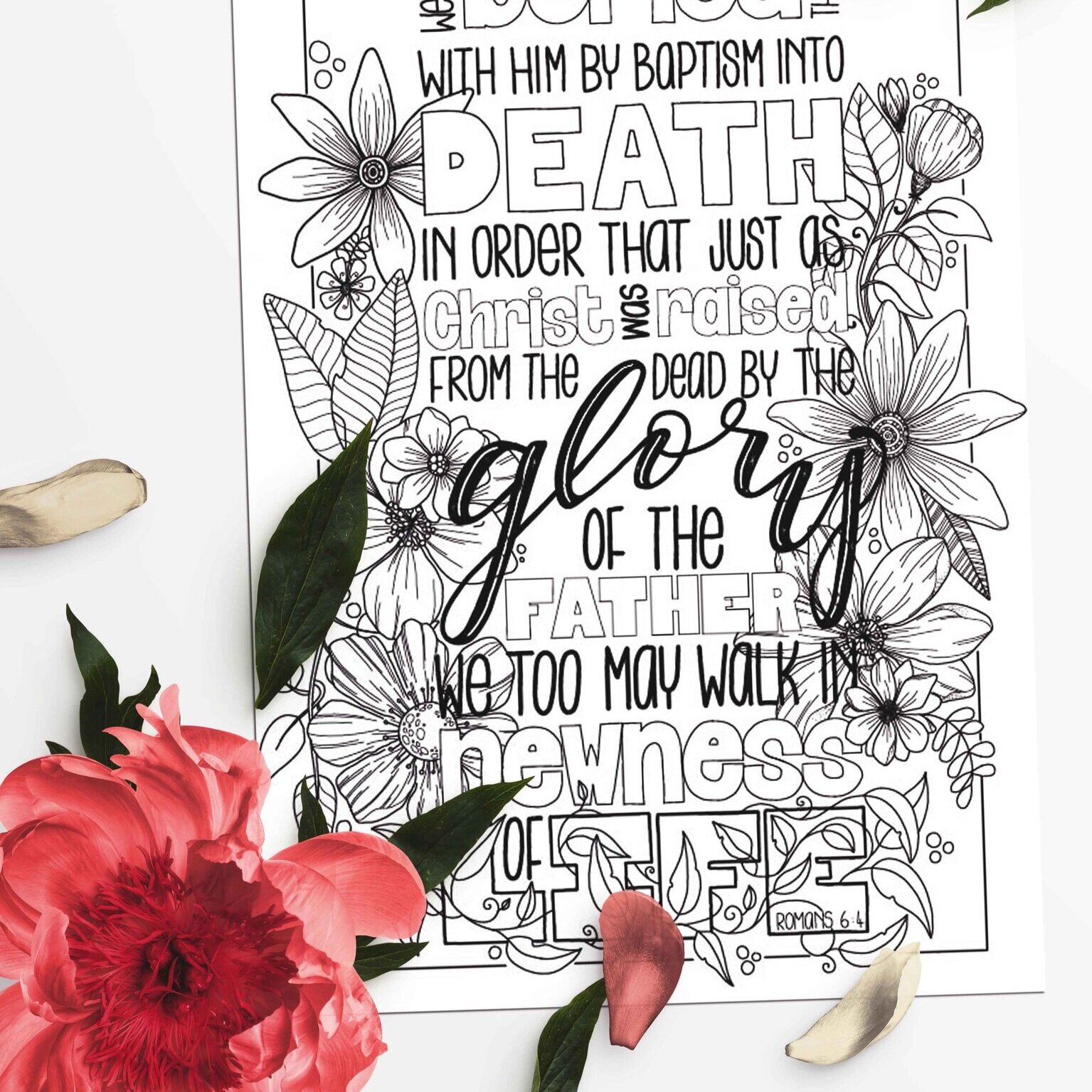 Beautiful Bible Colouring for Easter 2020